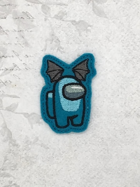 Bat Wing Crewmate Feltie Embroidery Design